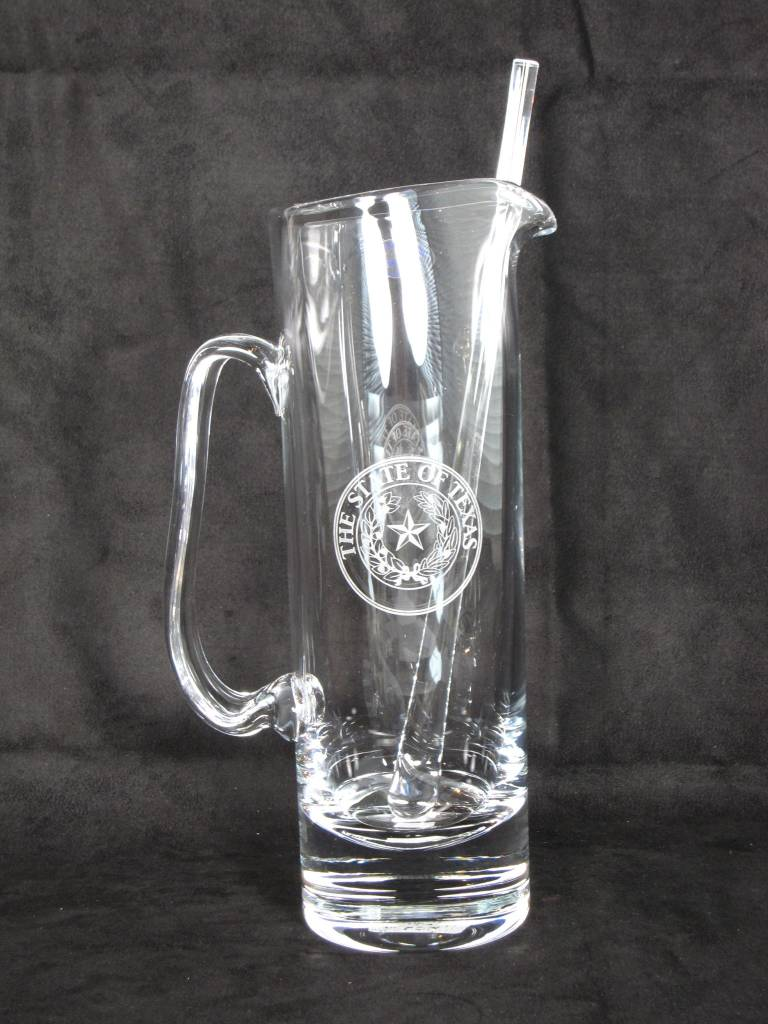 Martini Pitcher - Stir - Texas State Seal