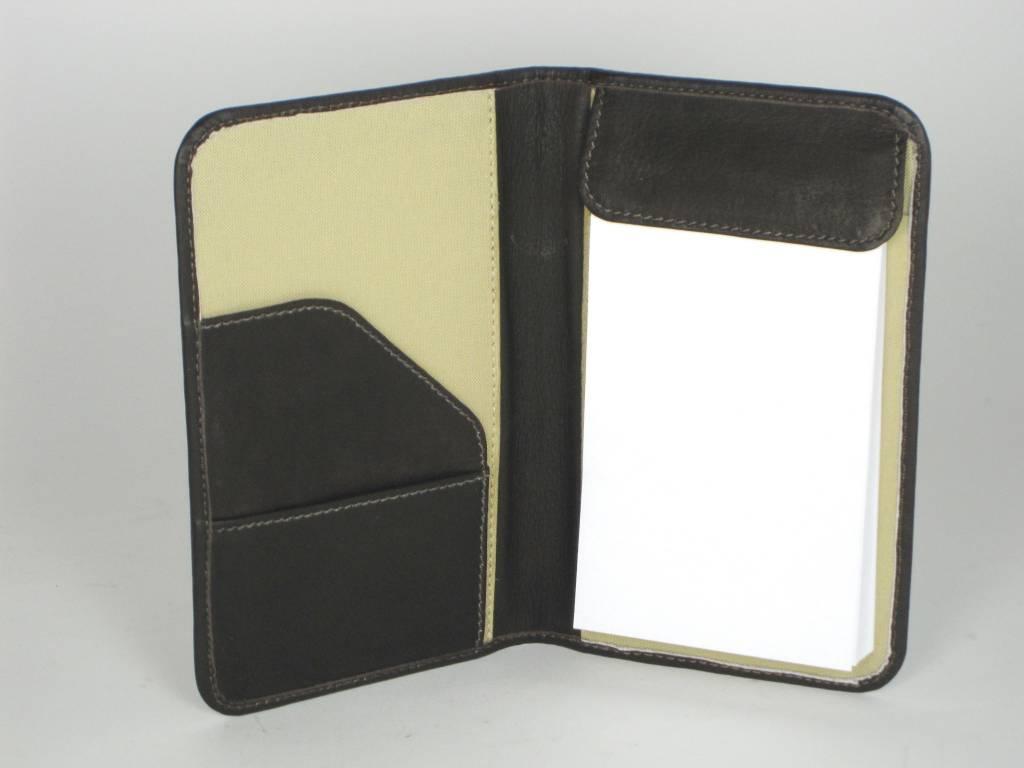 Mini Notepad Holder - Choc - Texas State Seal