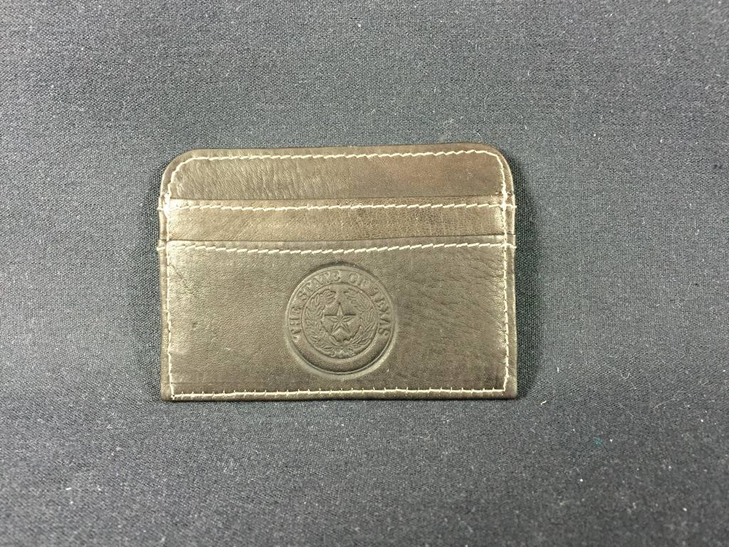 Slim Business Card Case - CHC -Texas State Seal - Lone Star Legacies