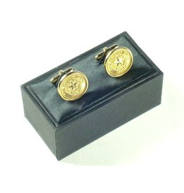 Cuff Links - Texas State Seal - Gold tone