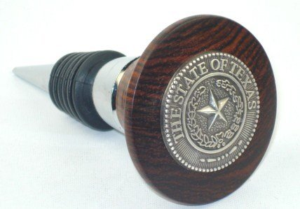 Wine Stopper - Silver - Texas State Seal