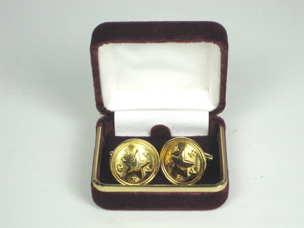 Cuff Links - Texas Star - Brass
