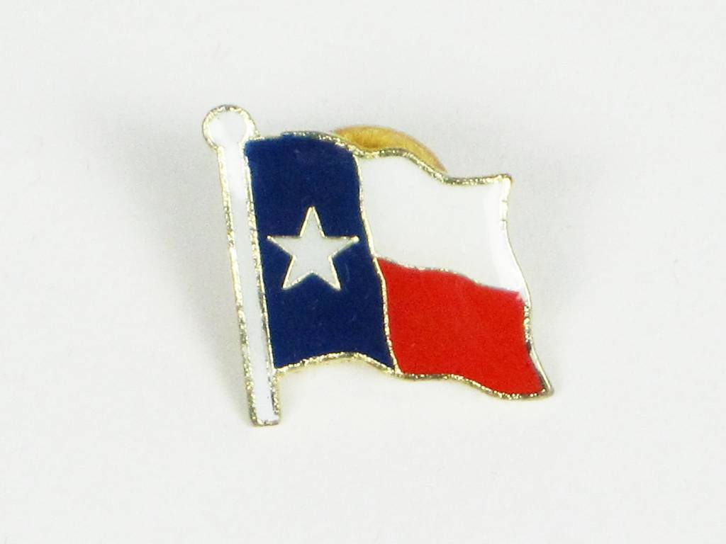 Exceptional Lapel Pin   Texas Flag   On Card