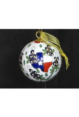 Ornament - Texas Outline & Bluebonnet Round