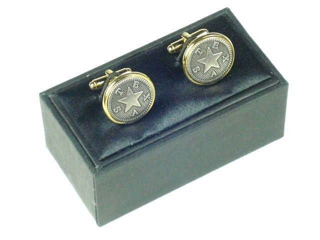 Cuff Links - Texas Star - Pewter