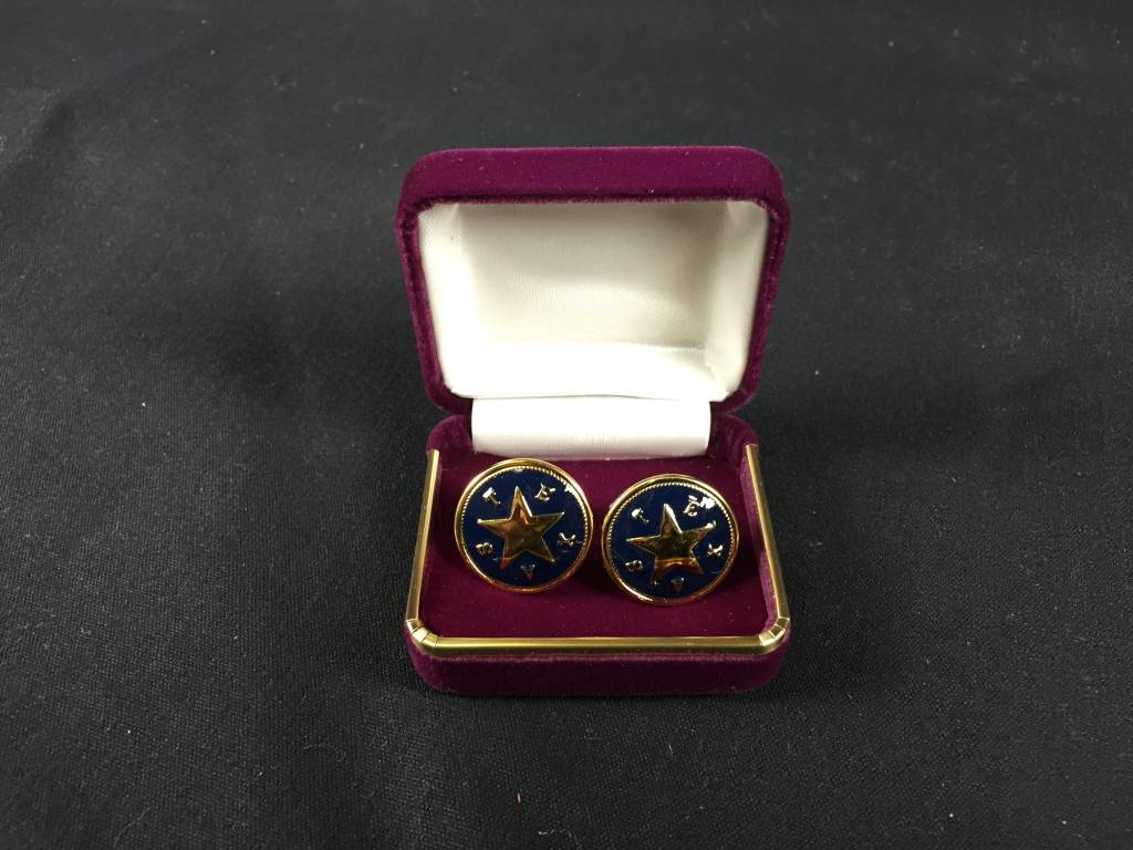 Cuff Links - Texas Star - Blue - Brass