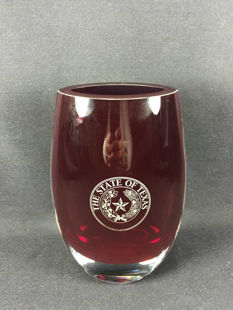 Vase - Crescendo - Scarlet - Texas State Seal
