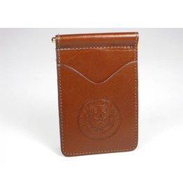 Wallet - Brown Calf - Texas State Seal (Spring clip)