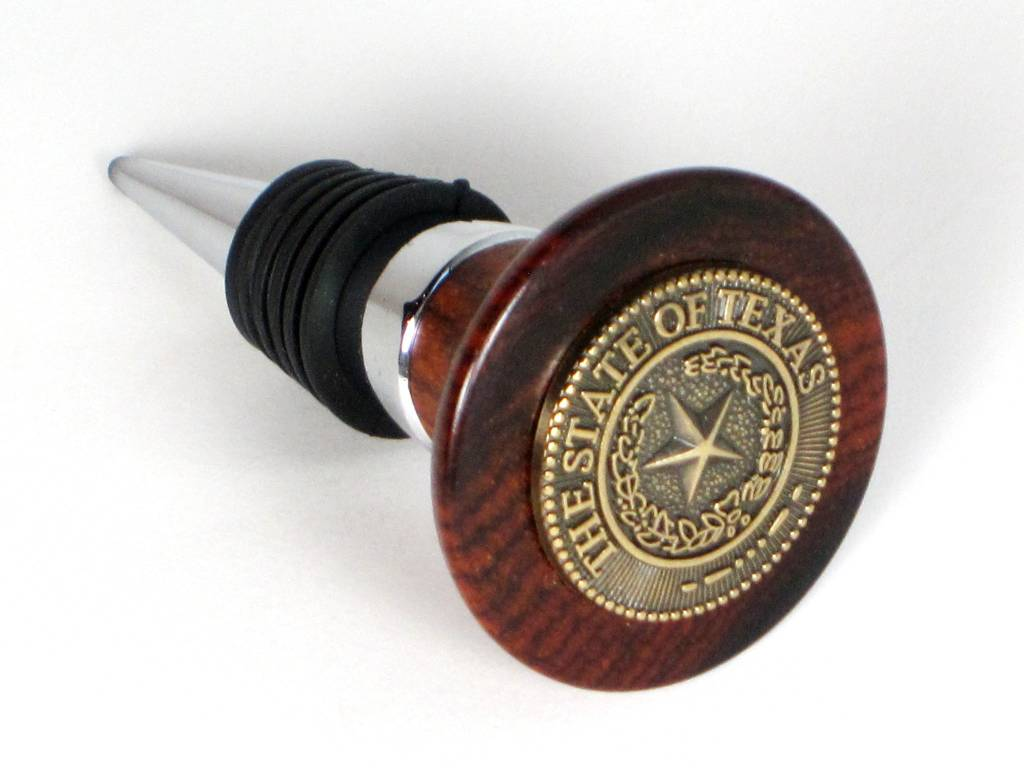Wine Stopper - Gold - Texas State Seal
