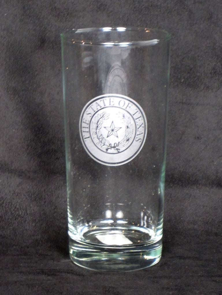 Cooler - 16 oz -Round - Texas State Seal