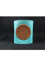 Drink Koozie - Turquoise - Texas State Seal