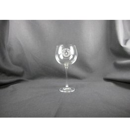 Wine Glass / Red / 14 oz / Texas State Seal