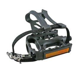 Evo EVO, Adventure Plus, Pedals and toe-clips and straps, Black