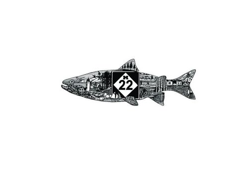 M22 M22 Fishline Sticker