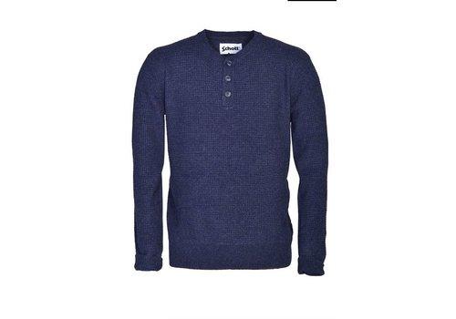 Schott Henley Waffle Weave Sweater