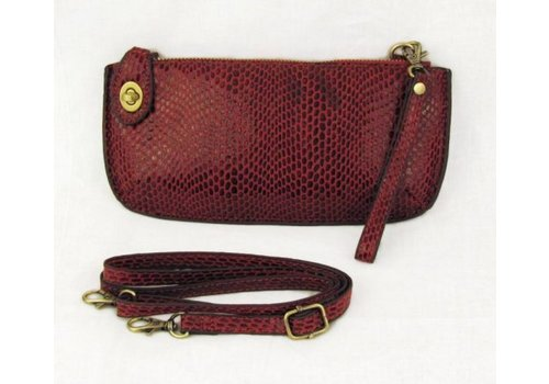 Joy Susan Joy Susan Python Mini Crossbody Wristlet Clutch