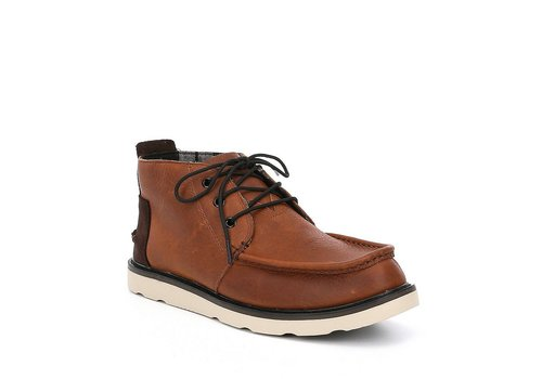 TOMS TOMS Waterproof Brown Pull Up Leather Chukka
