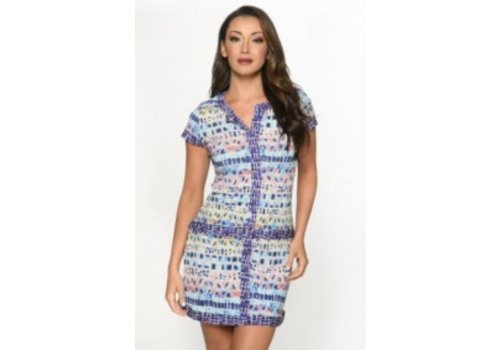 Isle Apparel Isle Apparel Contrast Trim SS Dress