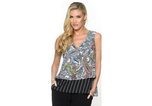 Isle Apparel Sleeveless Layered Blouse