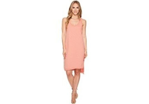 Dylan Dylan Luxe Cotton Asymetrical Slit Dress