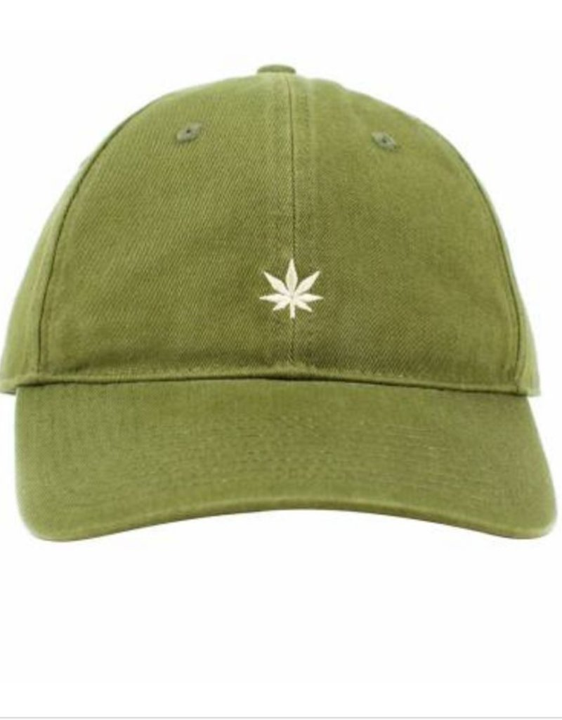 size 40 04873 41a6a ... hot no bad ideas leaf olive dad hat olive w white leaf green corner  c954b c3cf8