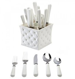 Provence White 20pc Set W/Caddy