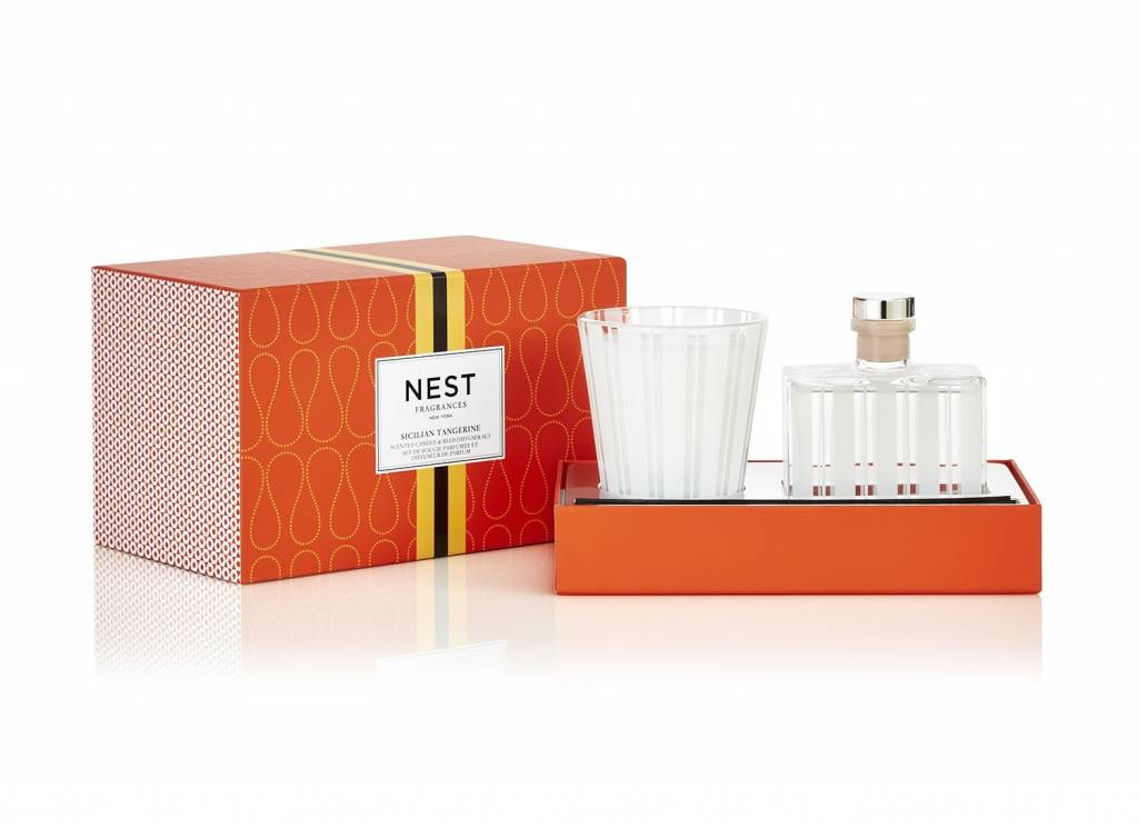 Sicilian Tangerine Classic Candle & Reed Diffuser Set