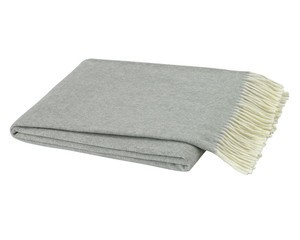 Light Gray Italian Herringbone Throw