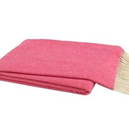 Cosmo Pink Italian Herringbone Throw