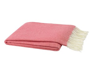 Coral Italian Herringbone Throw