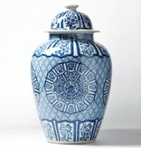 Blue and White Porcelain Temple Jar