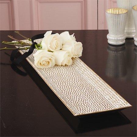 Gold Dot Mosaic Tray