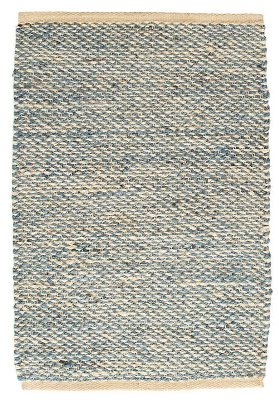 Jacinto French Blue Woven Jute Rug-2x3