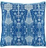 Bombay Colbalt w/ Trellis Cobalt Pillow