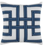 Harbor Lattice on White Pillow