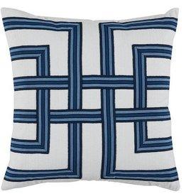 Harbor Lattice on White Pillow