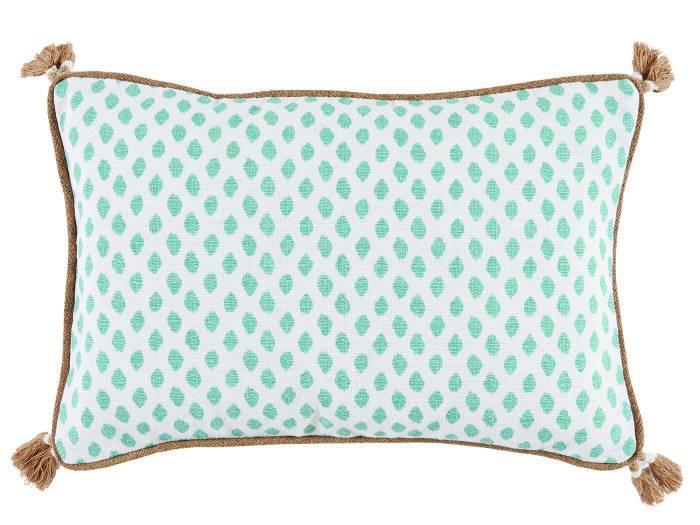 Sahara Mineral w/Tassels Lumbar Pillow