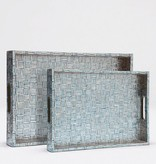 Goran Tray-Large (White/Turquoise)