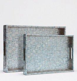 Small Goran Tray (White/Turquoise)