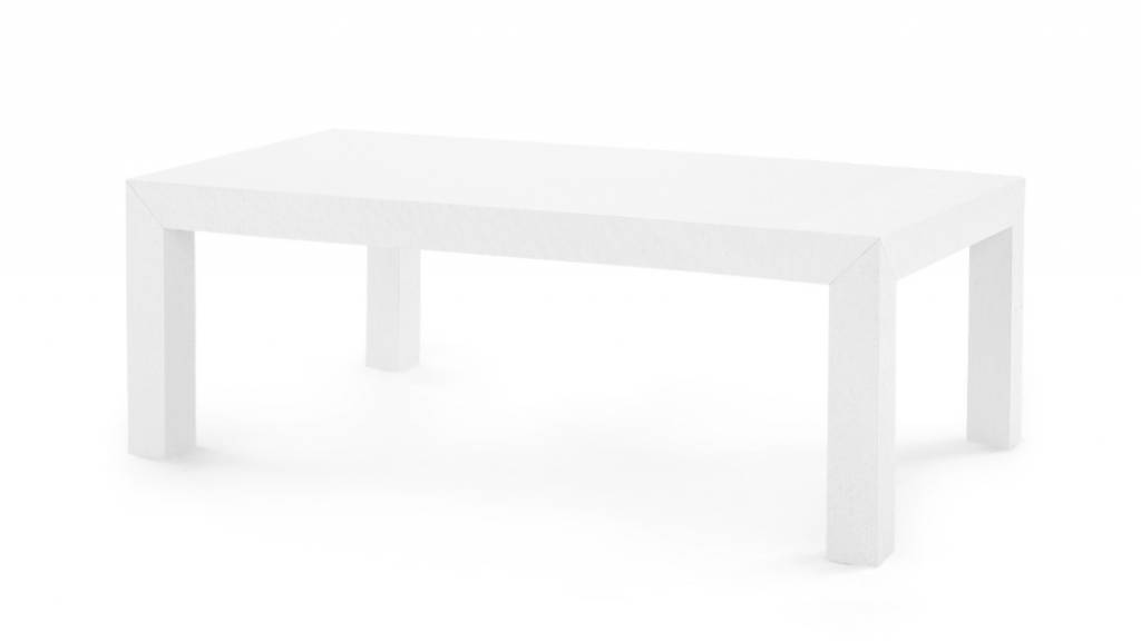 Parsons Coffee Table White