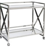 Gerard Silver Bar Cart