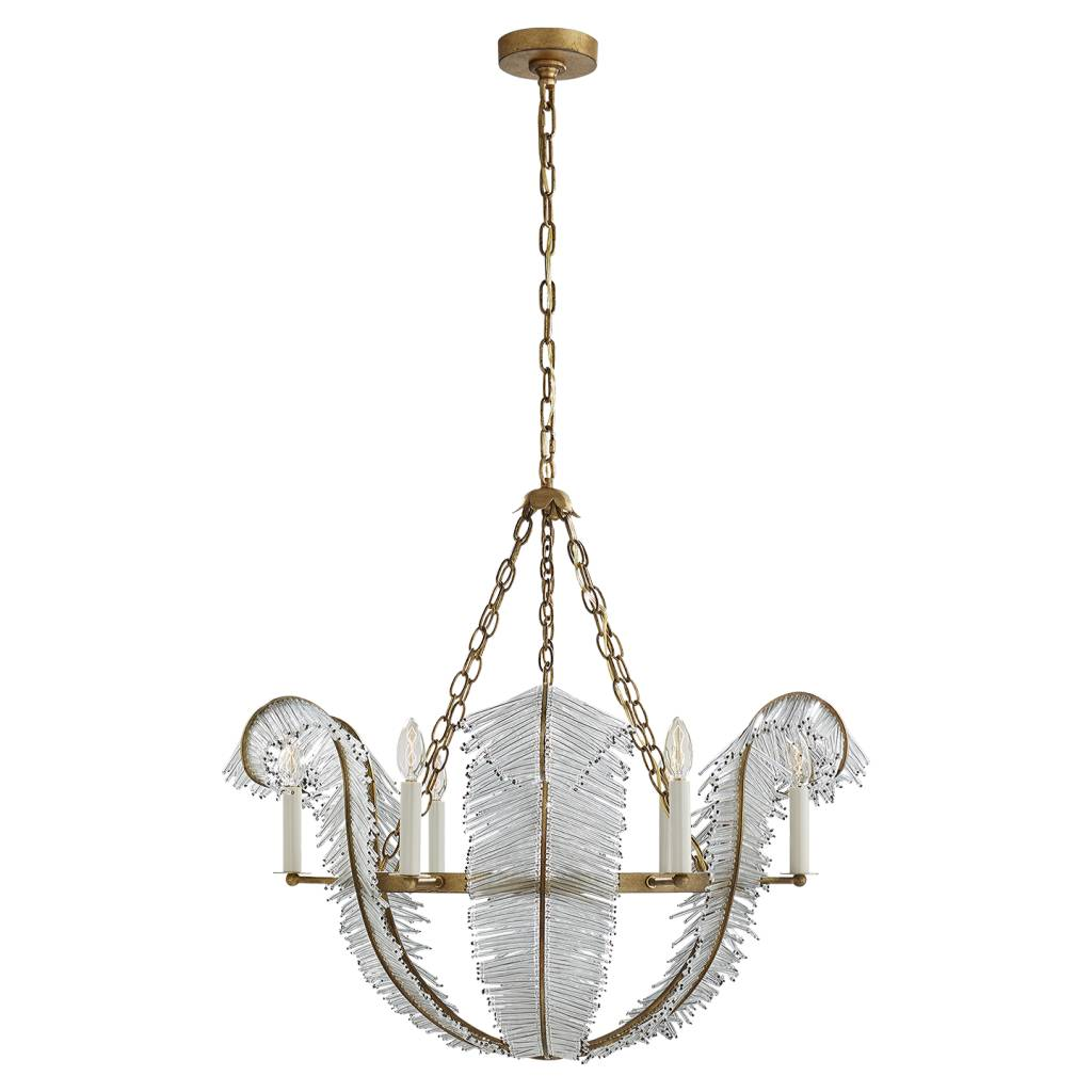 Calais Chandelier in Gilded Iron