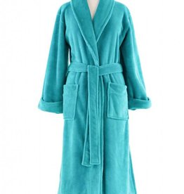 Sheepy Fleece Robe-Aqua