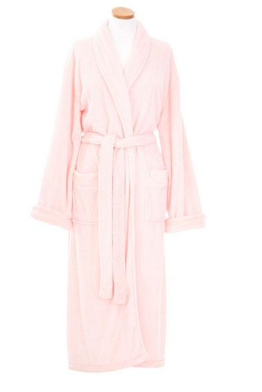 Sheepy Fleece Robe-Pale Rose
