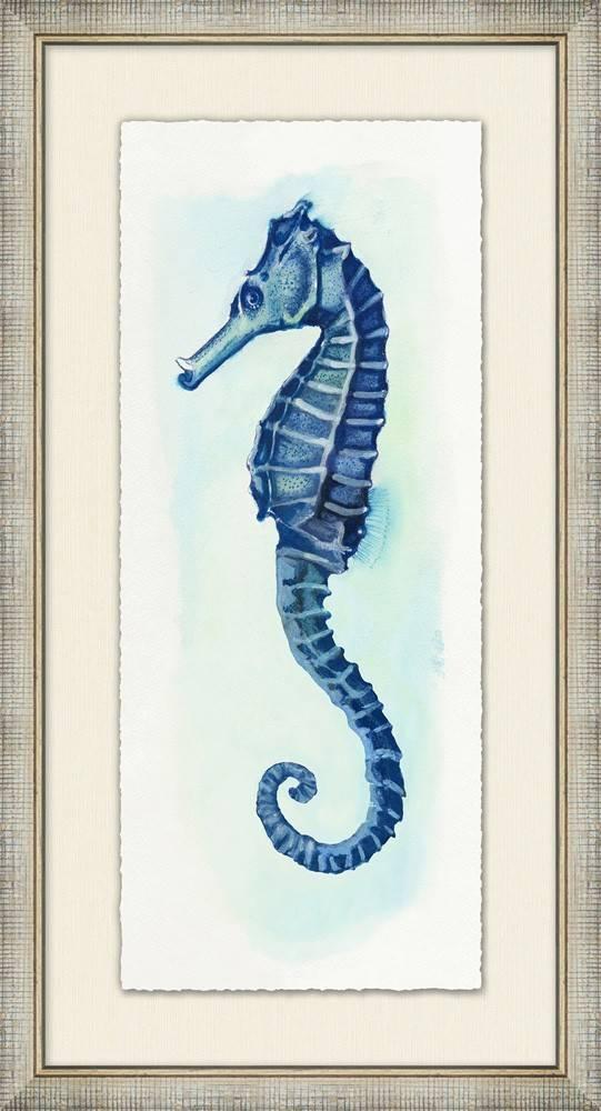 Small Watercolor Seahorse 2