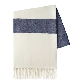 Sydney Navy Herringbone Throw