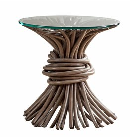 Knot End Table - Driftwood