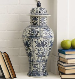 Blue & White Chrysanthemum Jar Porcelain