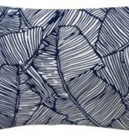 Les Palmiers Navy Lumbar Pillow