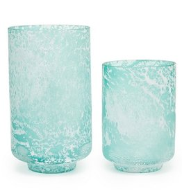 Crests Textured Seafoam Vase (Large)